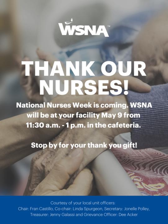 Walla Walla Nurses Week Notification 2018