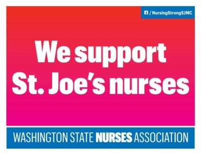 SJMC We Support St Joes Nurses