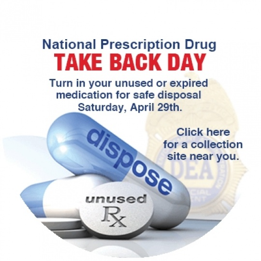 National Drug Take Back Day Web Button Round 400X400Px